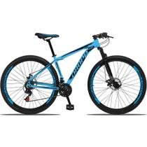 Bicicleta Aro 29 Quadro 21 Alumínio 21 Marchas Freio a Disco Mecânico Azul/Preto - Dropp -