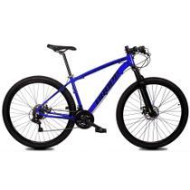 Bicicleta Aro 29 Quadro 21 Alumínio 21 Marchas Freio Disco Mecânico Z1-X Azul/Preto - Dropp -