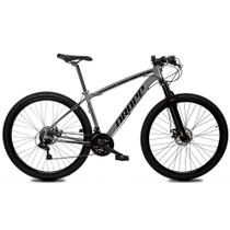 Bicicleta Aro 29 Quadro 21 Alumínio 21 Marchas Freio Disco Mecânico Z1-X Cinza/Preto - Dropp -
