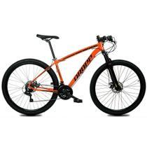 Bicicleta Aro 29 Quadro 21 Alumínio 21 Marchas Freio Disco Mecânico Z1-X Laranja/Preto - Dropp -