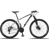 Bicicleta Aro 29 Quadro 21 Alumínio 21v Câmbio Shimano Freio Disco Hidráulico Z3 Branco/Preto - Dropp -