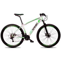 Bicicleta Aro 29 Quadro 21 Alumínio 21v Câmbio Tras Shimano Freio Mecânico Volcon Branco - GT Sprint -