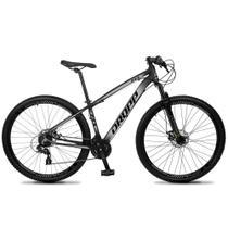 Bicicleta Aro 29 Quadro 21 Alumínio 24v Suspensão Trava Freio Hidráulico Z4-X Preto/Cinza - Dropp -