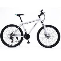 Bicicleta Aro 29 Shimano 21 marchas Suspensão dianteira Freio a disco Alumínio Mountain Bike Looping - Branca -