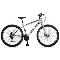 Bicicleta Aro 29 Spaceline Moon 21v Freio a Disco Branco e Preto -