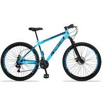Bicicleta Aro 29 Spaceline Moon 21v Freio a Disco c/ Suspensão Azul e Preto -