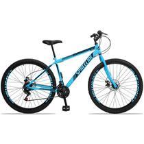 Bicicleta Aro 29 Spaceline Moon 21v Freio a Disco Garfo Rígido Azul e Preto -