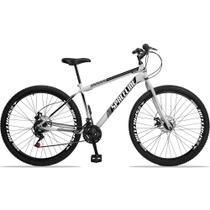 Bicicleta Aro 29 Spaceline Moon 21v Freio a Disco Garfo Rígido Branco e Preto -
