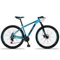 Bicicleta Aro 29 Spaceline Orion Aluminum 21v Freio a Disco Azul e Preto -