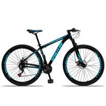 Bicicleta Aro 29 Spaceline Orion Aluminum 21v Freio a Disco Preto e Azul -