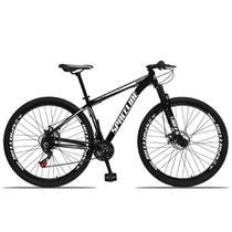 Bicicleta Aro 29 Spaceline Orion Aluminum 21v Freio a Disco Preto e Branco -