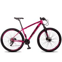 Bicicleta Aro 29 SPACELINE Vega 27v Freio Hidráulico Rosa e Preto -