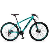 Bicicleta Aro 29 SPACELINE Vega 27v Freio Hidráulico Verde Água e Preto -