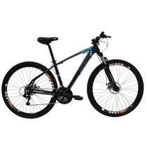 Bicicleta Aro 29ER 21 V Preto/Azul - High One Revolution -