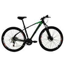 Bicicleta Aro 29ER 24 V Preto/Verde - High One Revolution -