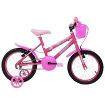 Bicicleta Aro16 Com Cesta Fem. Fadinha Cairu Rosa - 310150 -