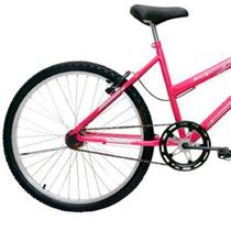Bicicleta ARO24 FEM. Bella com Cesta FEM. Cores Cairu - 319705ROSA/PINK -