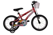 Bicicleta athor aro 16 baby girl feminino com cestinha vermelha -