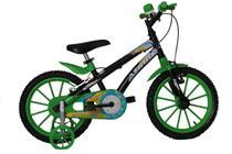 Bicicleta athor aro 16 baby lux masculino preta com kit verde -