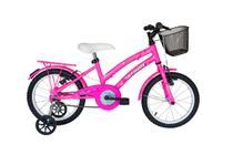 Bicicleta athor aro 16 bliss feminino com cestinha rosa -