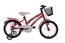 Bicicleta athor aro 16 bliss feminino com cestinha vermelha -