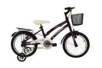 Bicicleta athor aro 16 bliss feminino com cestinha violeta -