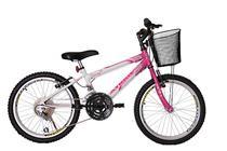 Bicicleta athor aro 20 mtb 18/m charmy feminino c/ cestão - rosa -