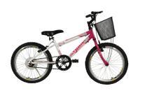 Bicicleta athor aro 20 mtb s/m charmy feminino c/ cestão - rosa -