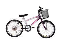 Bicicleta athor aro 20 mtb s/m charmy feminino c/ cestão - violeta -