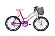Bicicleta athor aro 20 mtb s/m melissa feminino c/ cestão - rosa -