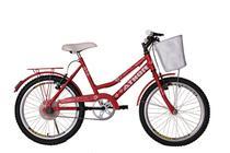 Bicicleta athor aro 20 nature feminino com cestão - vermelha -