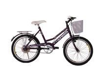 Bicicleta athor aro 20 nature feminino com cestão - violeta -