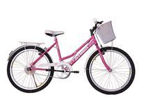 Bicicleta athor aro 24 nature freio v- brake c/ cestão - rosa -