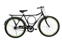 Bicicleta athor aro 26 executiva freio v- brake preta c/ aero verde -