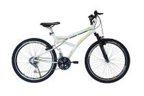 Bicicleta athor aro 26 maximus 18v c/ suspensão dianteira branca -