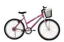 Bicicleta athor aro 26 mtb s/m model feminino c/ cestão - rosa -