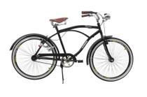 Bicicleta athor aro 26 retro c/ 72 furos e descanso central preta fosca -