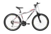 Bicicleta athor aro 26 titan aluminio 18v 45mm t-18 freio v brake branca c/ suspensão -