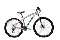 Bicicleta athor aro 29 android 21v shimano tz quadro aluminio c/ freio a disco t-17 branca c/ azul -