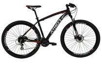 Bicicleta athor aro 29 android aluminio 24v shimano altus t-17 preta fosca c/ vermelho -