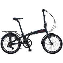 Bicicleta Azul Dobrável 6 Marchas Sampa Pro Durban -