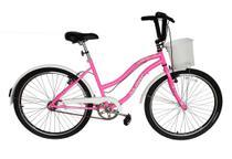 Bicicleta Beach Aro 26 Feminina Retro Vintage Rosa Chiclete - Dal'Annio Bike