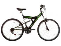 Bicicleta Bicicleta TB 100 Aro 26 18 Marchas  - Dupla Suspensão Quadro de Aço Freio V-Brake