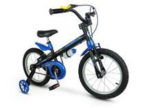 Bicicleta Bicicletinha Infantil Menino Aro 16 Apollo Preto Azul Nathor -