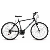 Bicicleta Bike Aro 26 Masculina Adulto MTB Colli CBX 750 Freios vbreak aro em alumínio - Preto fosco -