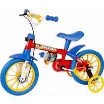 Bicicleta Bike Infantil Aro 12 Fireman Azul Menino Nathor -