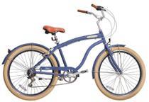Bicicleta Blitz Beach Cruiser Mistral Aro 26 6v - azul - A26 -