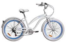 Bicicleta Blitz Beach Cruizer Wind Aro 26 6v - Branco - A26 -