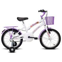 Bicicleta Breeze - Aro 16 - Branco e Lilás - Verden Bikes -