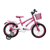 Bicicleta Cairu 16 Fem Flowers Rosa/pink C/garupa -